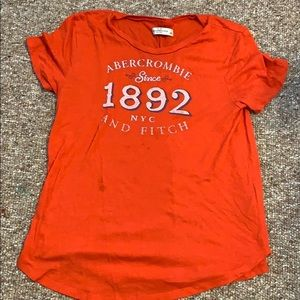 red abercrombie and fitch shirt